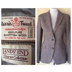 Vintage Harris Tweed Scottish wool blazer jacket